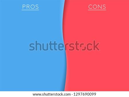Pros and Cons Centre Divide Comparison List Template