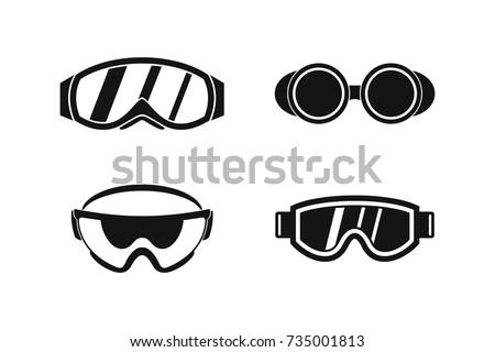 protect glasses icon set