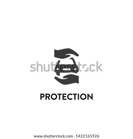 protection icon vector. protection vector graphic illustration
