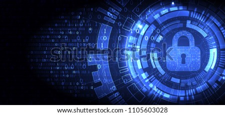 Protection mechanism  concept, system privacy. Light technology background. Vector illustration Foto stock ©