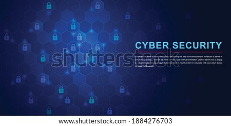 Protection network cyber security computer and safe your data concept. Digital crime by an anonymous hacker. Vector illustration Stock photo ©