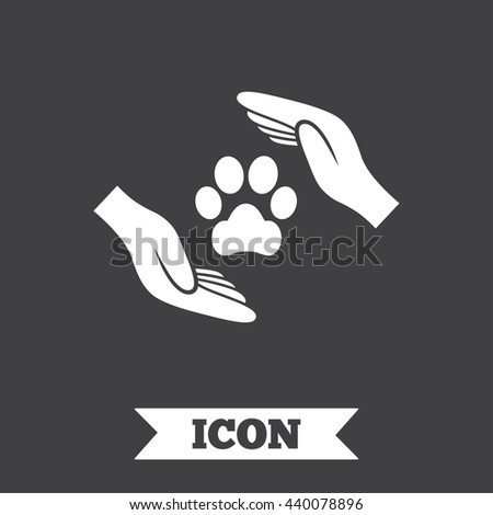 protection of animals sign icon