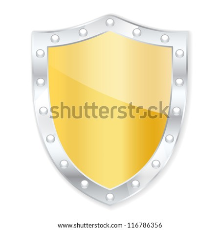 Protection shield. Vector illustration