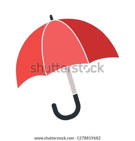 protection umbrella icon-weather sign-rainy icon-autumn symbol-season illustration