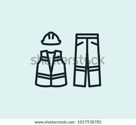 Protective clothes icon line isolated on clean background. Protective clothes icon concept drawing icon line in modern style. Vector illustration for your web site mobile logo app UI design.