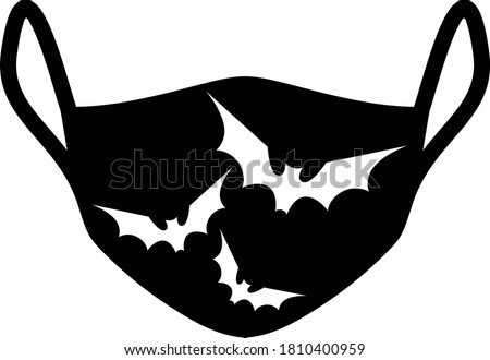 protective face mask with bats