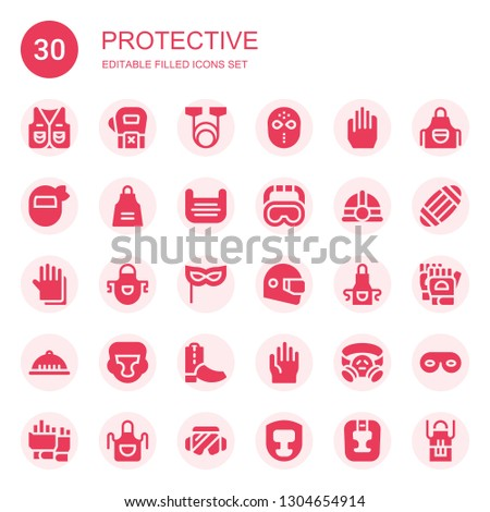 protective icon set collection