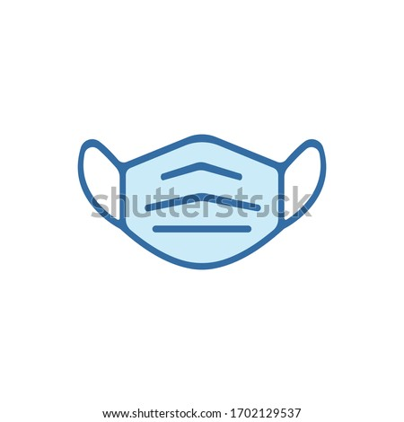 Protective Mask Icon Mouth Guard Vector Graphic