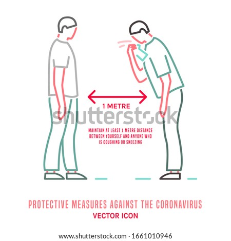Protective measure against the coronavirus. COVID-19 disease advice for the public. Icon, sign, pictogram in simple style. Medical virology concept. Vector illustration isolated on a white background