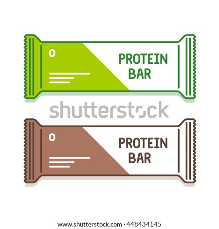 protein bar in green and brown