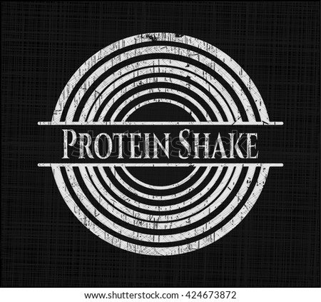 Protein Shake written on a blackboard