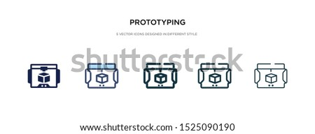 prototyping icon in different style vector illustration. two colored and black prototyping vector icons designed in filled, outline, line and stroke style can be used for web, mobile, ui