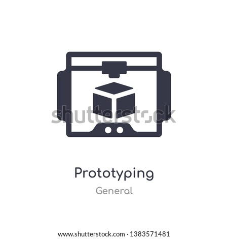 prototyping icon. isolated prototyping icon vector illustration from general collection. editable sing symbol can be use for web site and mobile app
