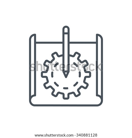 Prototyping icon suitable for info graphics, websites and print media and  interfaces. Line vector icon.