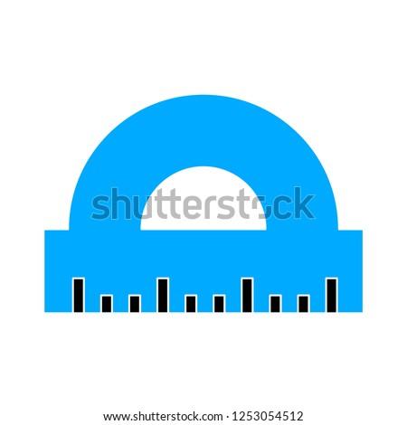 protractor flat icon