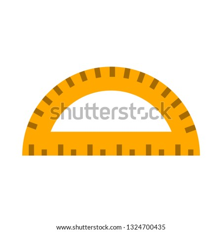 protractor flat icon.You can be used protractor icon for several purposes like: websites, UI, UX, print templates, presentation templates, promotional materials, web and mobile phone apps