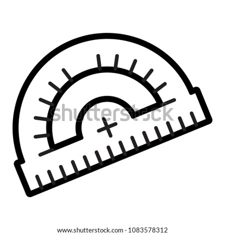 Protractor Icon Isolated On White Background