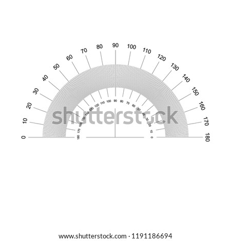 protractor, vector illustration