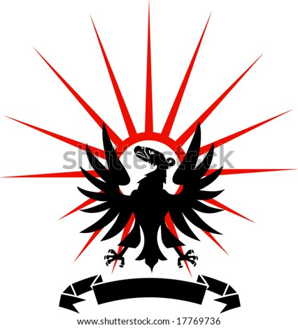 stock vector : proud eagle - tattoo, t-shirt design
