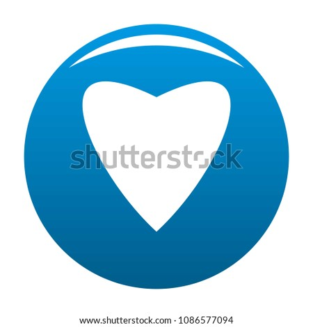 Proud heart icon. Simple illustration of proud heart vector icon for any design blue