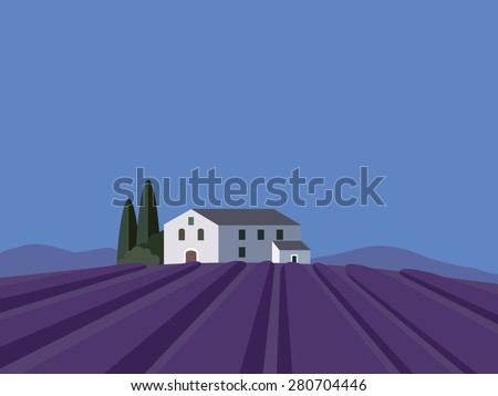 provence landscape with