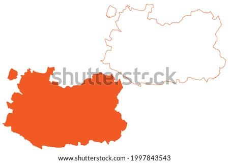 Province of Ciudad Real (Kingdom of Spain, Autonomous Community Castilla–La Mancha or Castile La Mancha) map vector illustration, scribble sketch Ciudad Real map Foto stock ©