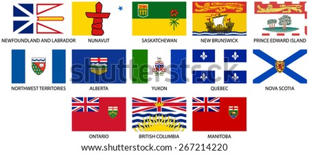 provincial flags of canada icon