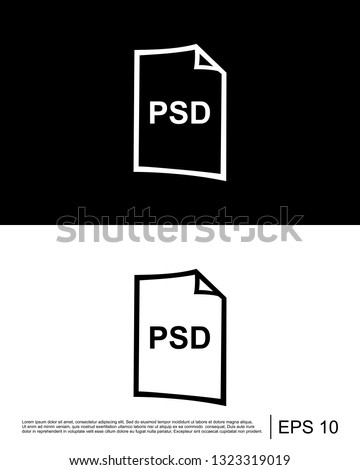 psd file format icon template