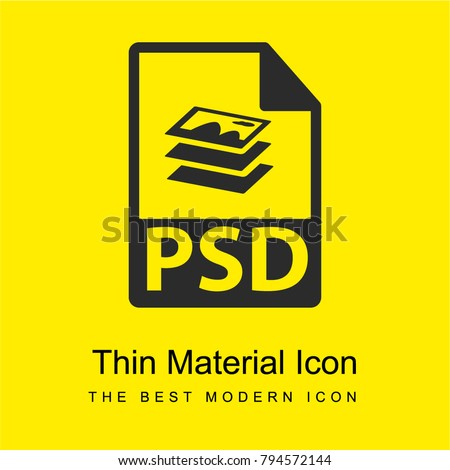 PSD file format variant bright yellow material minimal icon or logo design