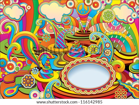 psychedelic background in a