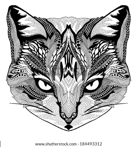 psychedelic cat illustration