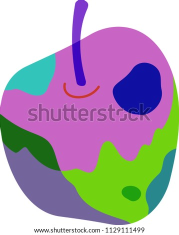 psychedelic color apple