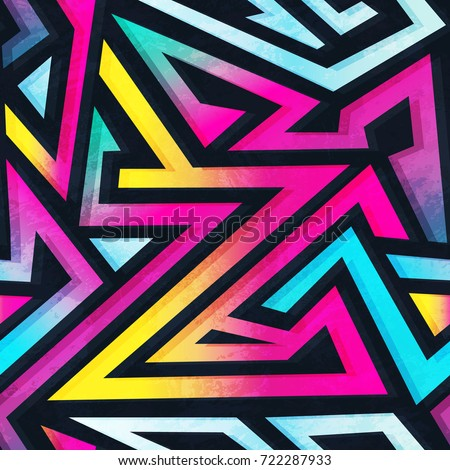 psychedelic color geometric