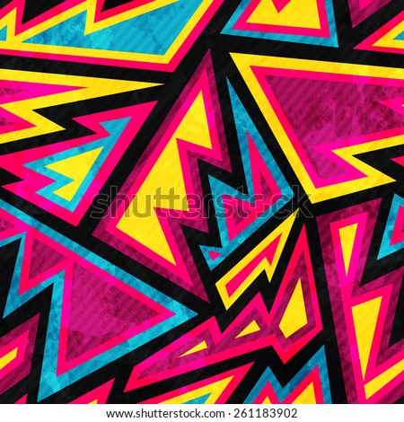 psychedelic colored geometric