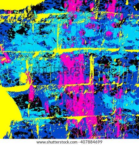 psychedelic colored graffiti