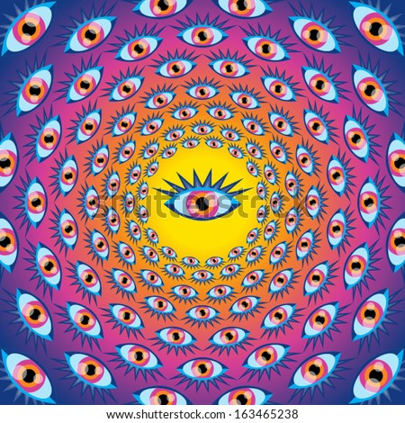 psychedelic eyes seamless