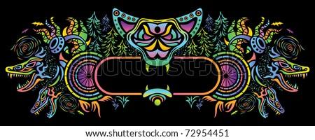 psychedelic flyer vector