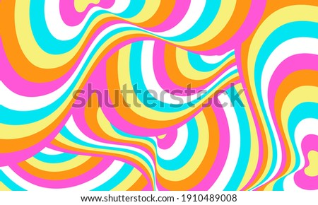 Psychedelic groovy wave background. Vector illustration. Stock foto ©