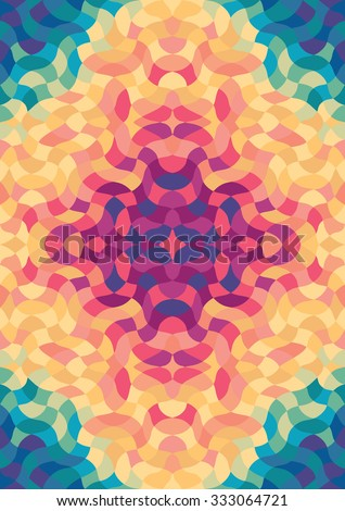 psychedelic multicolored design