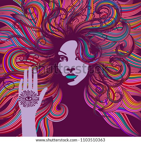 psychedelic portrait of a