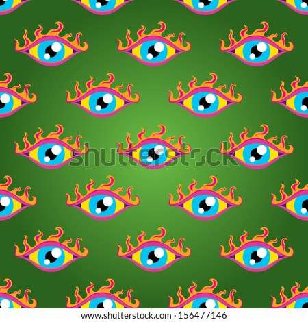 psychedelic trippy eyes