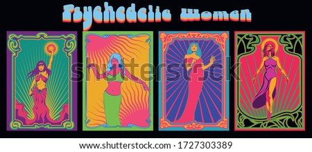 psychedelic women vintage