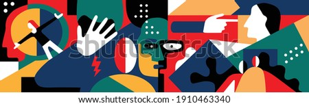 psychology - abstract vector illustration