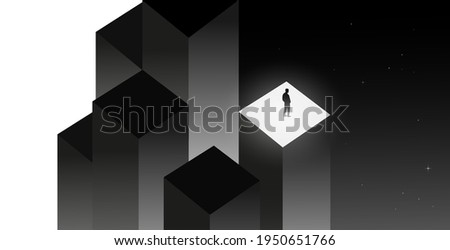 Psychology concept vector illustration. Mental health, depression, seasonal affected, sleep disorder. Psychiatry, philosophy concept. Сток-фото ©