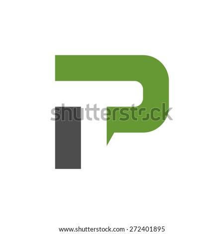 PT logo design template   Stock fotó ©