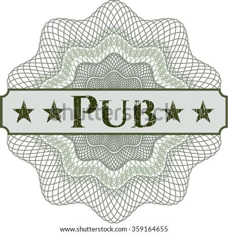Pub money style rosette