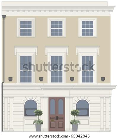 pub or restaurant facade with...