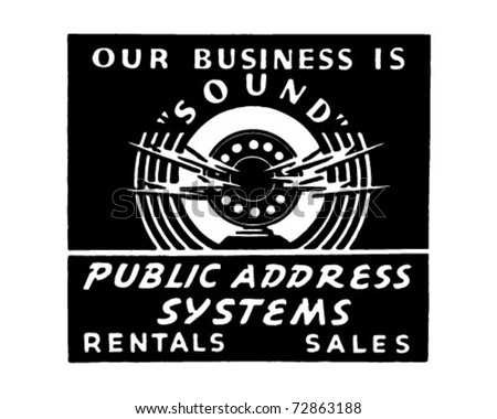 Public Address System - Retro Ad Art Banner