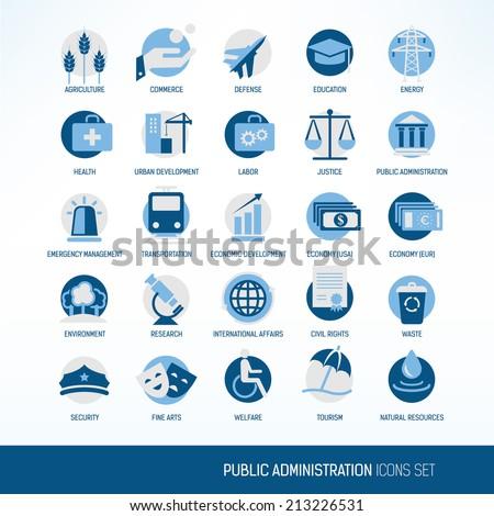 Public administration icons Stock photo ©