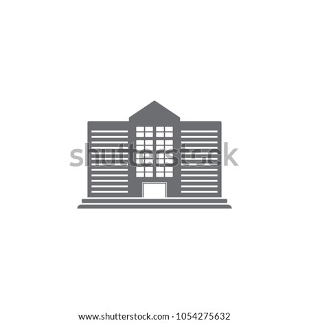 public building icon. Simple element illustration. public building symbol design template. Can be used for web and mobile on white background